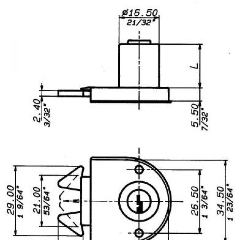 2158 Technical drawing