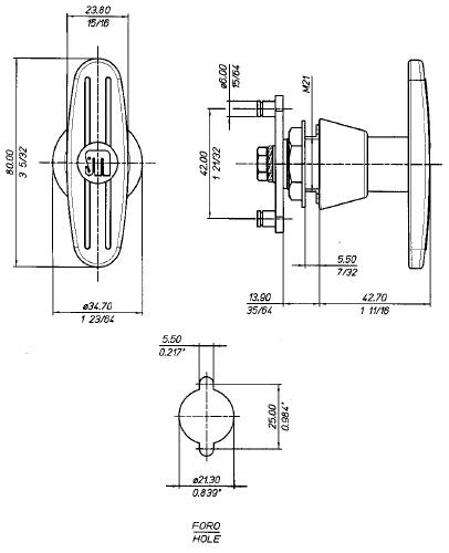 29GM Technical drawing
