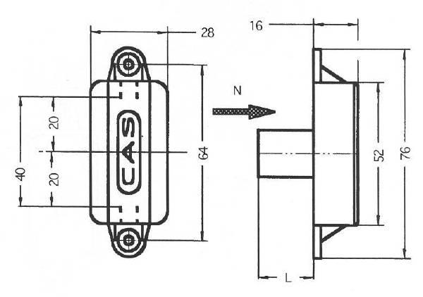 2A84 Technical drawing